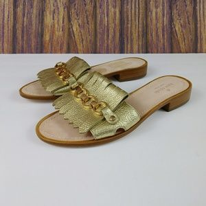 Kate Spade Brie Tumbled Leather Slides